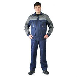 """Костюм мужской """"Оптимальный"""" летний с брюками темно-синий URSUS"""