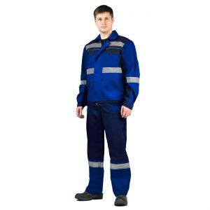 """Костюм """"РЕСПЕКТ"""" куртка/полукомб. василек/темно-синий URSUS"""