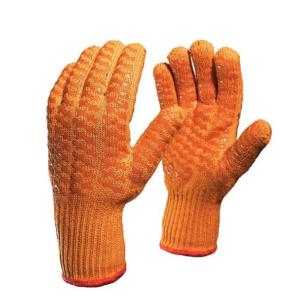"""Перчатки трикотажные """"Захват"""" 7,5 класс хлопок-полиэфир с двусторонним силиконовым покрытием"""