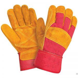 Перчатки комбинированные спилковые усиленные РЛ