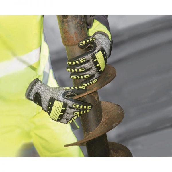 Порезостойкие трикотажные перчатки с двойным нитриловым покрытием EOS NOCUT VV910 DeltaPlus