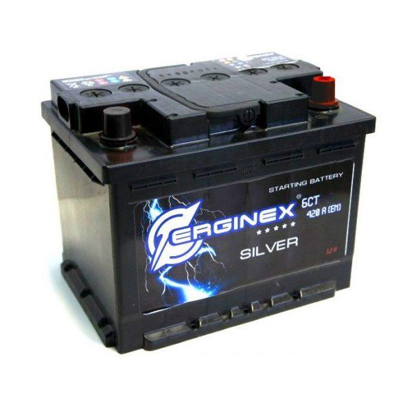 Аккумулятор стартерный 6СТ-55А Erginex европейские клеммы обратная полярность