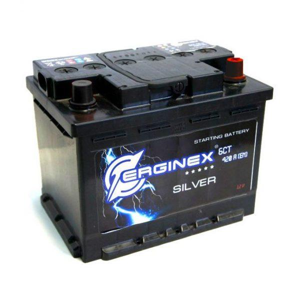 Аккумулятор стартерный 6СТ-60А Erginex европейские клеммы обратная полярность