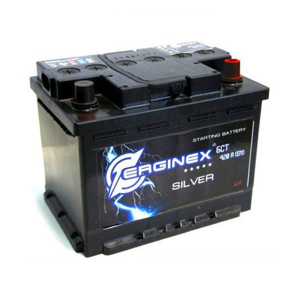 Аккумулятор стартерный 6СТ-62А Erginex клеммы конус прямая полярность