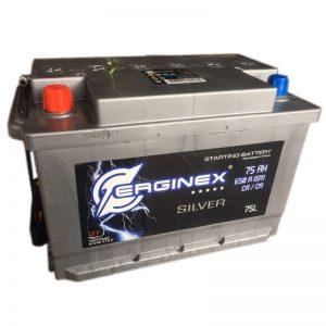 Аккумулятор стартерный 6СТ-75А Erginex прямая полярность