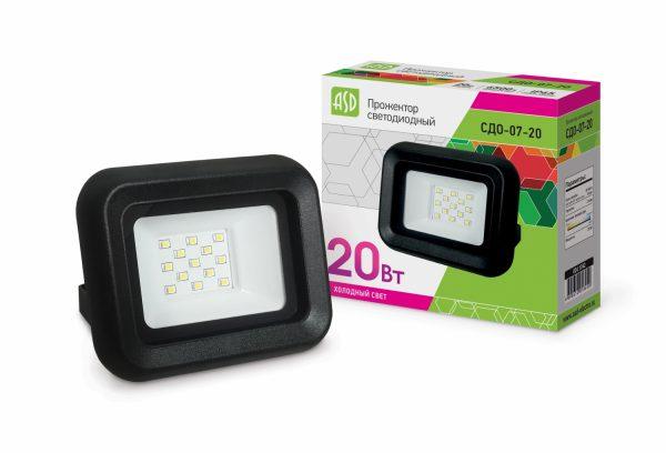 Прожектор СДО 07-20 светодиодный IP 65 ASD