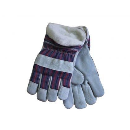 Перчатки комбинированные спилковые утепленные Ангара