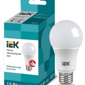 Лампа LED 15Вт А60 230В 4000К Е27 ECO IEK