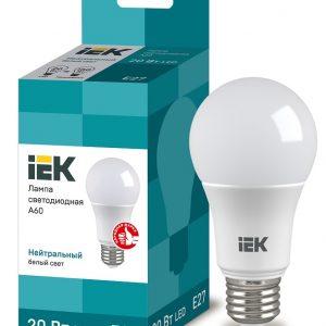 Лампа LED 20Вт 4000К Е27 А60 IEK