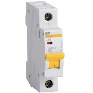 Выключатель автоматический 1-пол. 16А С 4,5 кА ВА47-29 IEK