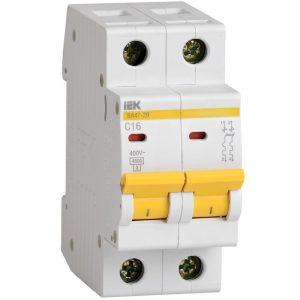 Выключатель автоматический 2-пол. 32А С 4,5 кА ВА47-29 IEK