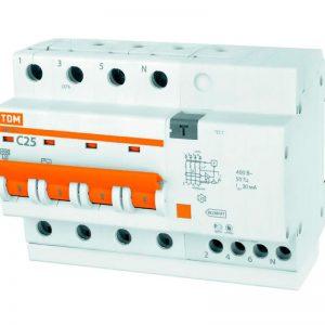 Дифференциальный автомат АД 14 4Р 63 А 30 мА TDM