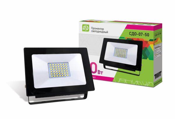 Прожектор СДО 07-50 светодиодный IP 65 ASD