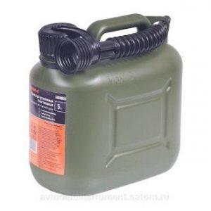Канистра 5 литров для ГСМ усиленная пластик ВП