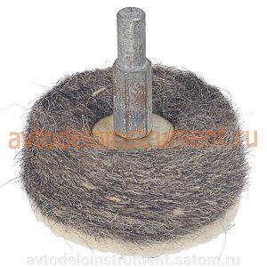 Насадка-круг войлочный для дрели (катушка) 60*40мм