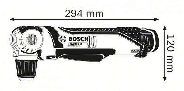 Аккумуляторная угловая дрель Bosch GWB 12V-10 Professional