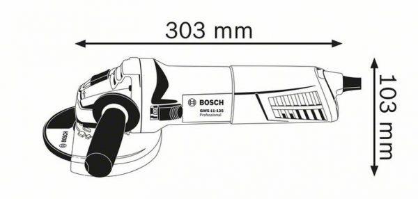 Угловая шлифмашина Bosch GWS 11-125 Professional