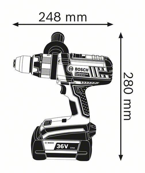 Аккумуляторная ударная дрель-шуруповёрт Bosch GSB 36 VE-2-LI Professional