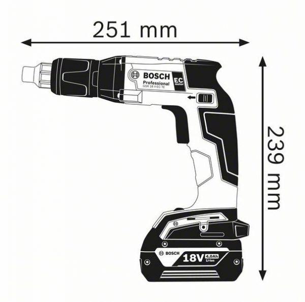 Аккумуляторный шуруповерт Bosch GSR 18 V-EC TE Professional