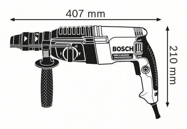 Перфоратор с патроном SDS plus Bosch GBH 2-26 DFR Professional