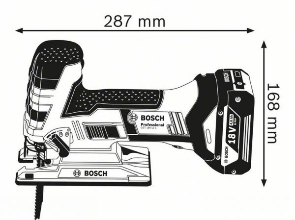 Аккумуляторныя лобзиковая пила Bosch GST 18 V-LI S Professional