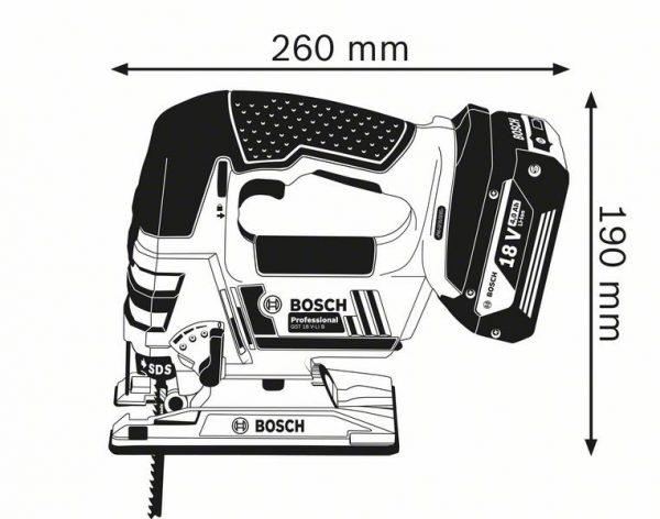 Аккумуляторная лобзиковая пила Bosch GST 18 V-LI B Professional