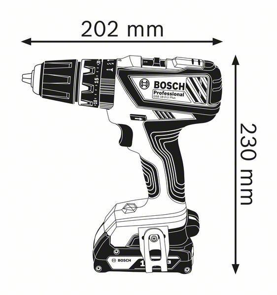 Аккумуляторная ударная дрель-шуруповёрт Bosch GSB 18-2-LI Plus Professional