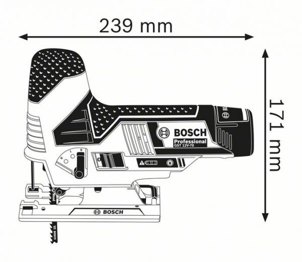 Аккумуляторная лобзиковая пила Bosch GST 12V-70 Professional