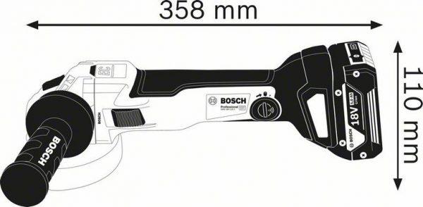Аккумуляторная угловая шлифмашина Bosch GWS 18V-10 C Professional
