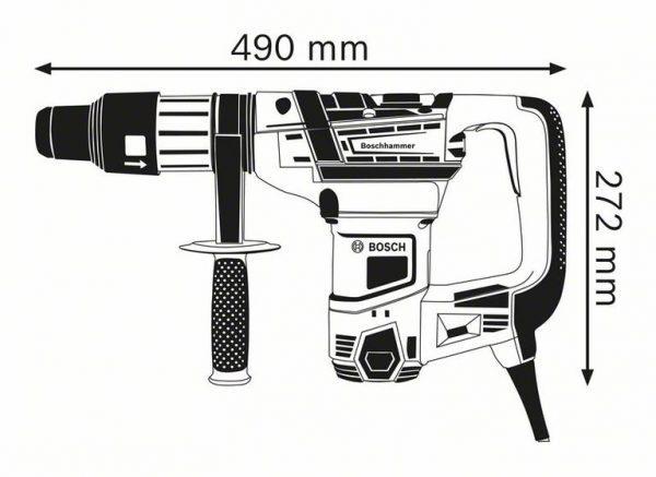 Перфоратор с патроном SDS max Bosch GBH 5-40 D Professional