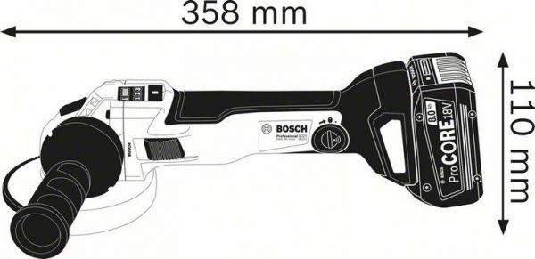 Аккумуляторная угловая шлифмашина Bosch GWS 18V-10 SC Professional
