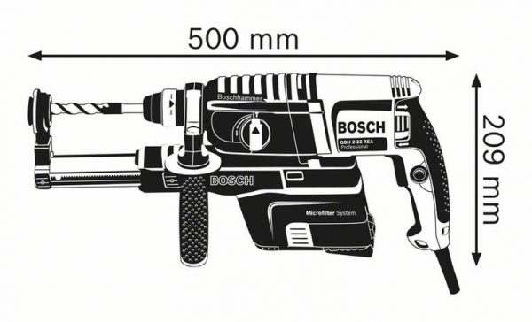 Перфоратор с пылеудалением, с патроном SDS plus Bosch GBH 2-23 REA Professional