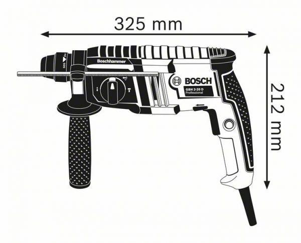 Перфоратор с патроном SDS plus Bosch GBH 2-20 D Professional