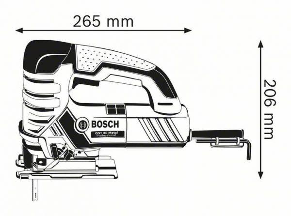 Электролобзик Bosch GST 25 Metal Professional