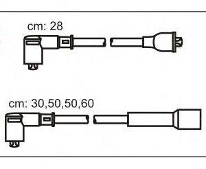 ABS34 JANMOR комплект проводов зажигания