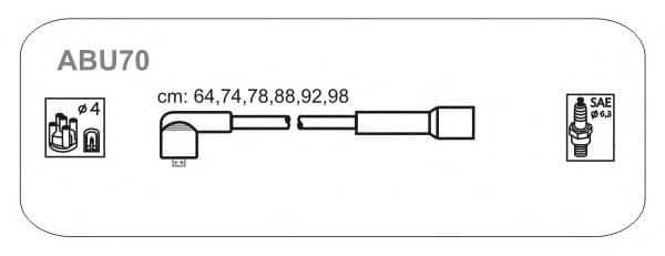 ABU70 JANMOR комплект проводов зажигания