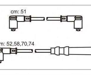 JP319 JANMOR комплект проводов зажигания