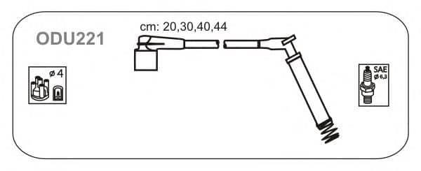 ODU221 JANMOR комплект проводов зажигания