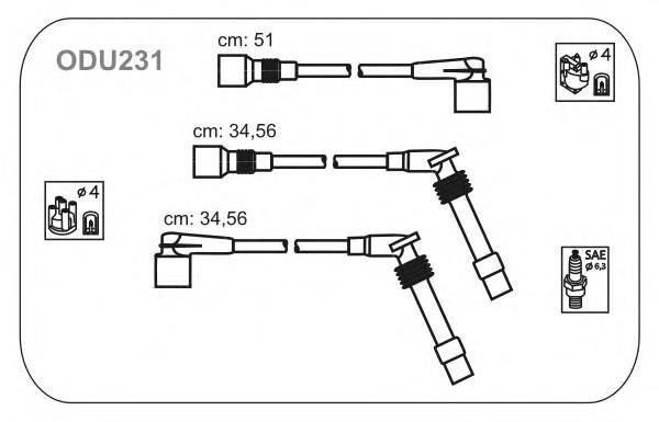 ODU231 JANMOR комплект проводов зажигания