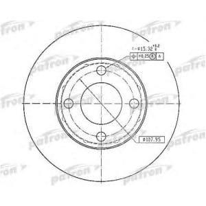 PBD1530 Patron тормозной диск