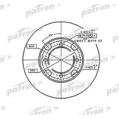 PBD2572 Patron тормозной диск