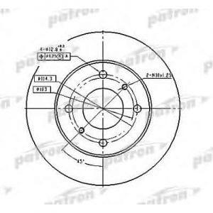 PBD2591 Patron тормозной диск