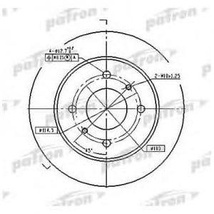 PBD2592 Patron тормозной диск