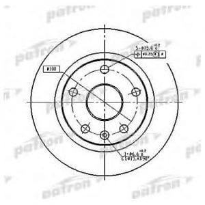 PBD2619 Patron тормозной диск