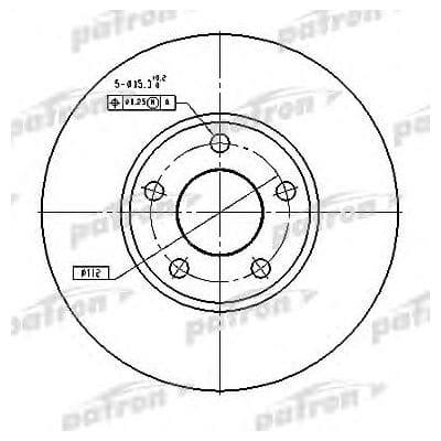PBD2650 Patron тормозной диск