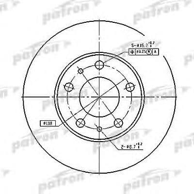 PBD2728 Patron тормозной диск
