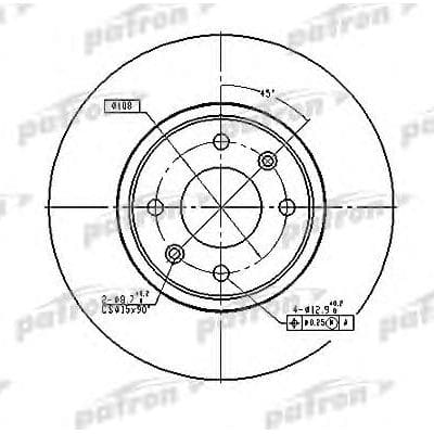 PBD2782 Patron тормозной диск