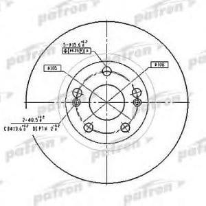 PBD4109 Patron тормозной диск
