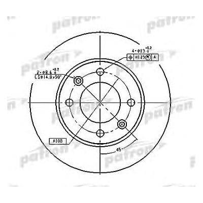 PBD4185 Patron тормозной диск