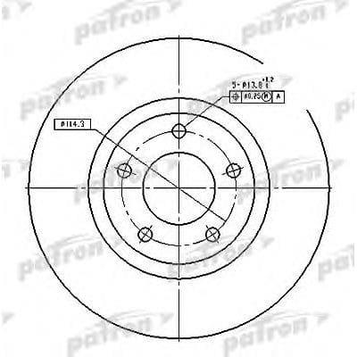 PBD4385 Patron тормозной диск